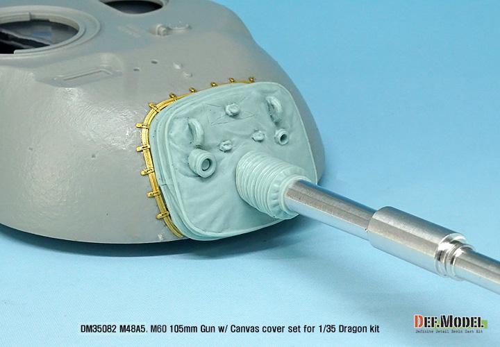 for Dragon DEF.MODEL ,1:35 US M48A5 M60 105mm gun w//canvas cover set DM35082